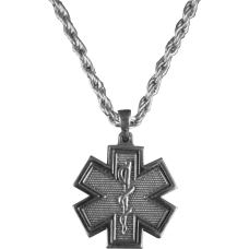 Large Star of Life EMS Necklace