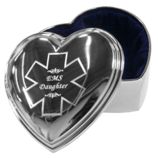 Silver Heart EMS Jewelry Box