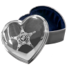 Police Silver Heart  Jewelry Box