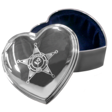 Silver Heart Police Jewelry Box