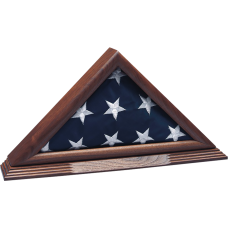 Small Solid Walnut Ceremonial Flag Case