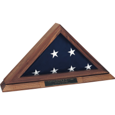 Large Solid Walnut Memorial Flag Case