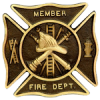 Firefighter Bronze Grave Marker