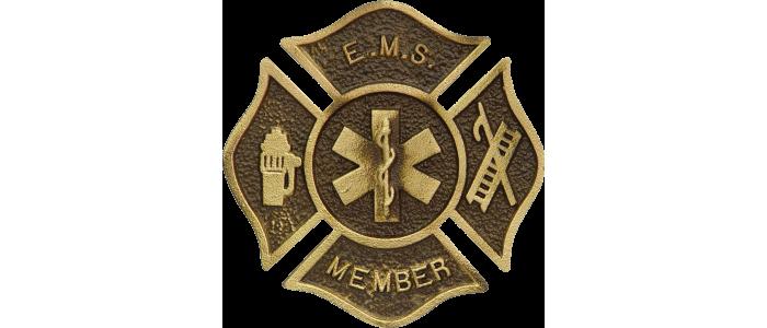 Custom EMS Bronze Grave Marker
