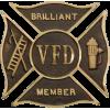 Custom Volunteer Fire Department Grave Marker