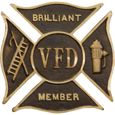 Custom Volunteer Fire Department Grave Marker