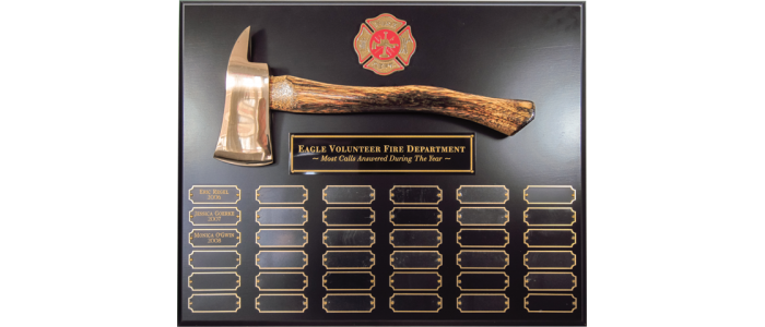 Black Perpetual Axe Plaque