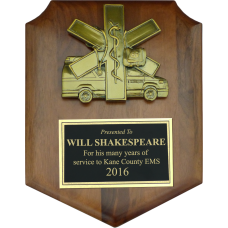 Small EMS Casting Shield Plaque