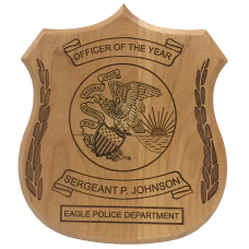 Alder Police Shield Plaque