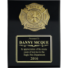 Large Black Gloss Fire Department Plaque