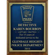 Custom Engraved Police Plaque