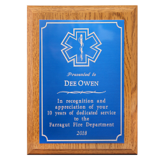 Small Engraved EMS Plaque