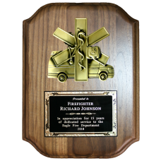 Scalloped Ambulance Plaque