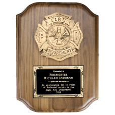Scalloped Fire Department Plaque