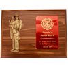 Firefighter with Child Plaque