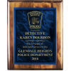 Law Enforcement Plaque with Acrylic Plate