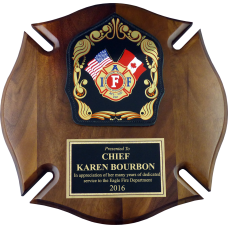 IAFF Maltese Cross Plaque