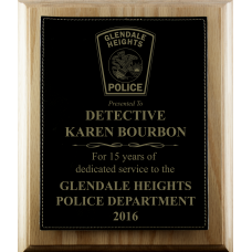 Leatherette Police Plaque
