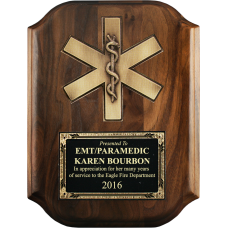 Scalloped Star of Life Plaque