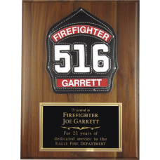 Custom Helmet Shield Plaque