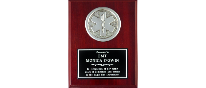 Gloss Mahogany EMS Plaque