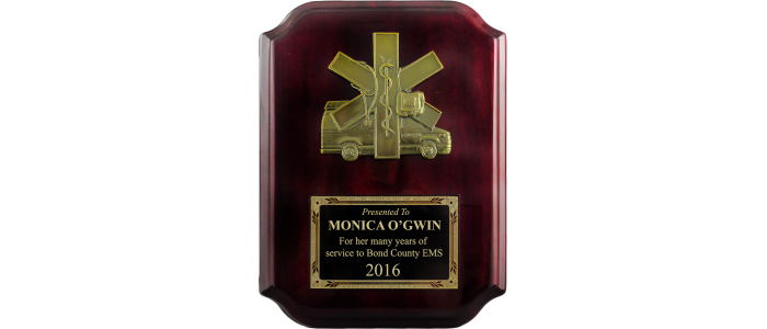Piano Finish EMS Plaque