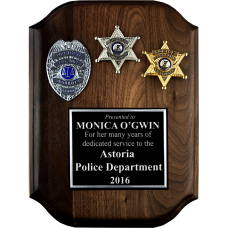 Police Badge Plaque