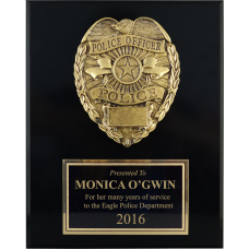 Black Gloss Police Plaque
