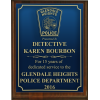 Small Engraved Police Plaque