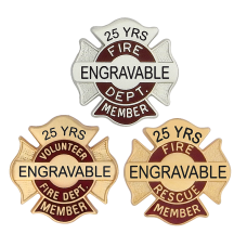 Engravable Fire Member Pins