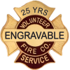 Engravable Fire Company Service Pins