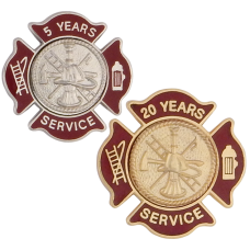 Custom Maltese Firefighter Service Pins