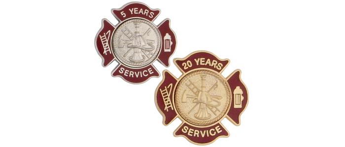 Firefighter Maltese Service Pins