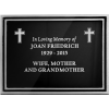 Black and Silver Outdoor Engraved Aluminum Sign