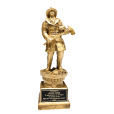 Gold-Tone Fireman Tribute Award