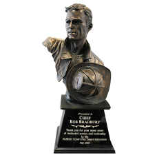Hero Firefighter Bust Award