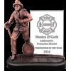 Glass & Bronze-Tone  Firefighter Award