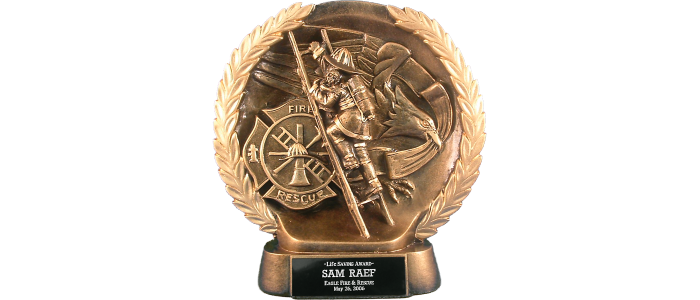 Gold-Tone Firefighter Award