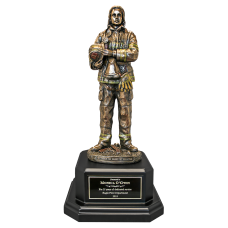 Prepared Female Firefighter Statue