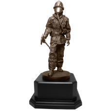Firefighter Statue with Axe