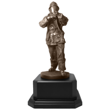 Firefighter Statue with Hose