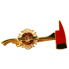 Custom Axe Firefighter Tie Bar