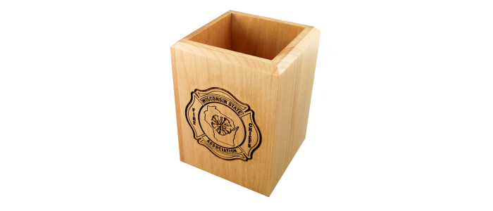 WSFCA Wood Pen Cup