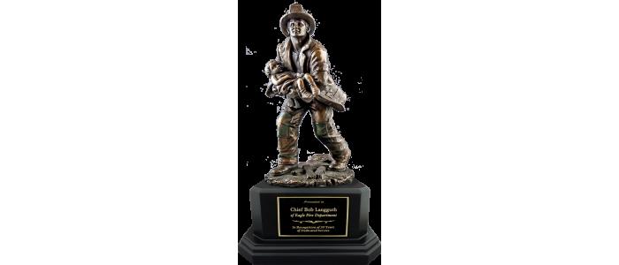 Rescue Fireman Statue