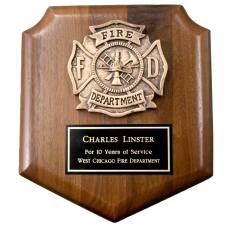 Small Firefighter Shield Plaque