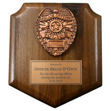 Small Police Shield Plaque