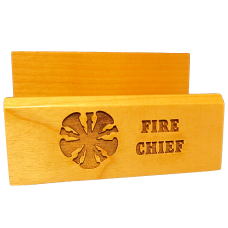 Wood Card Holder - Fire Chief Gift