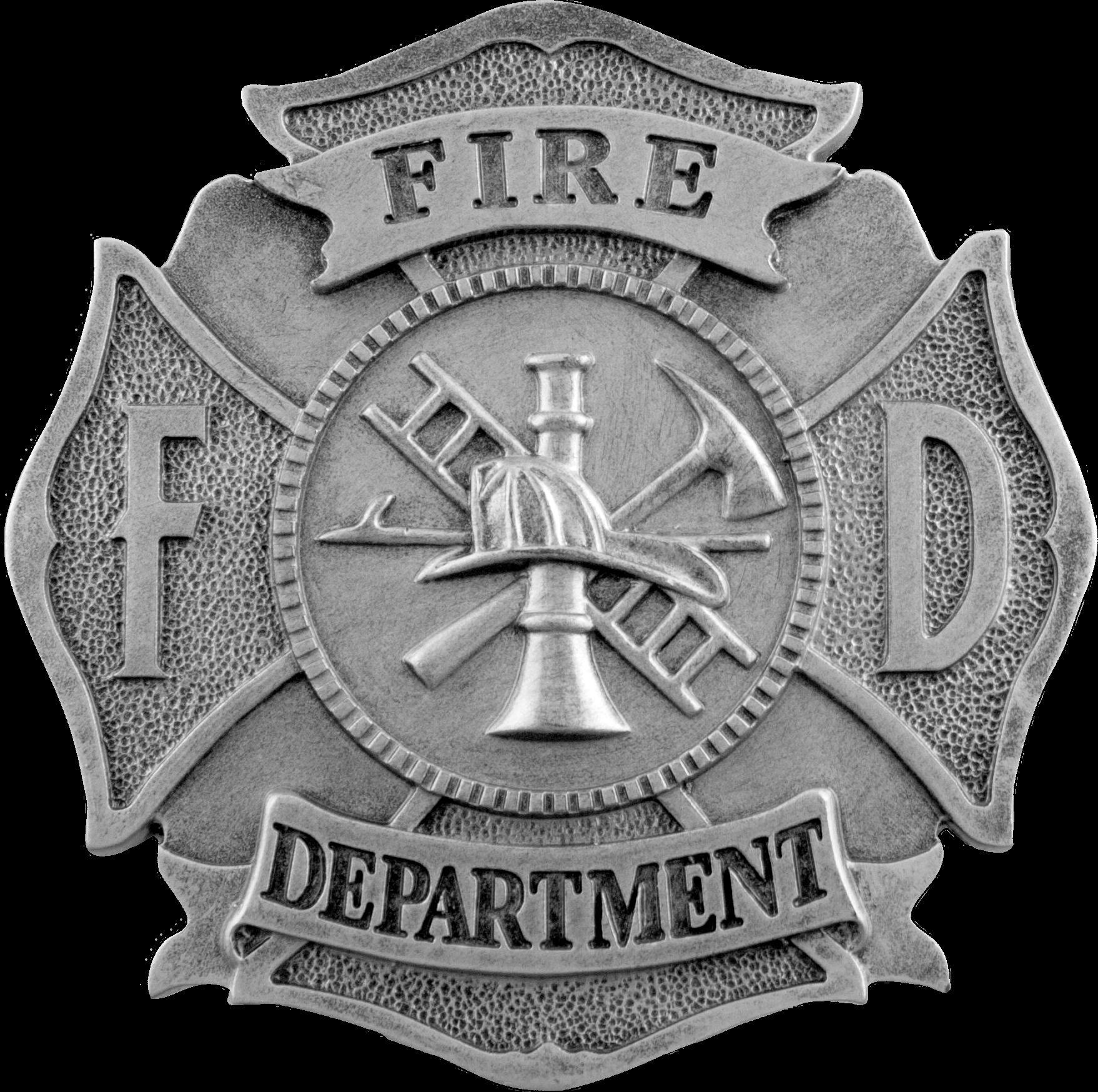Fire Department Maltese Cross Necklace: Fire Department Maltese Cross