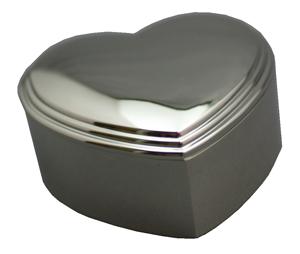 Silverplated Heart Box