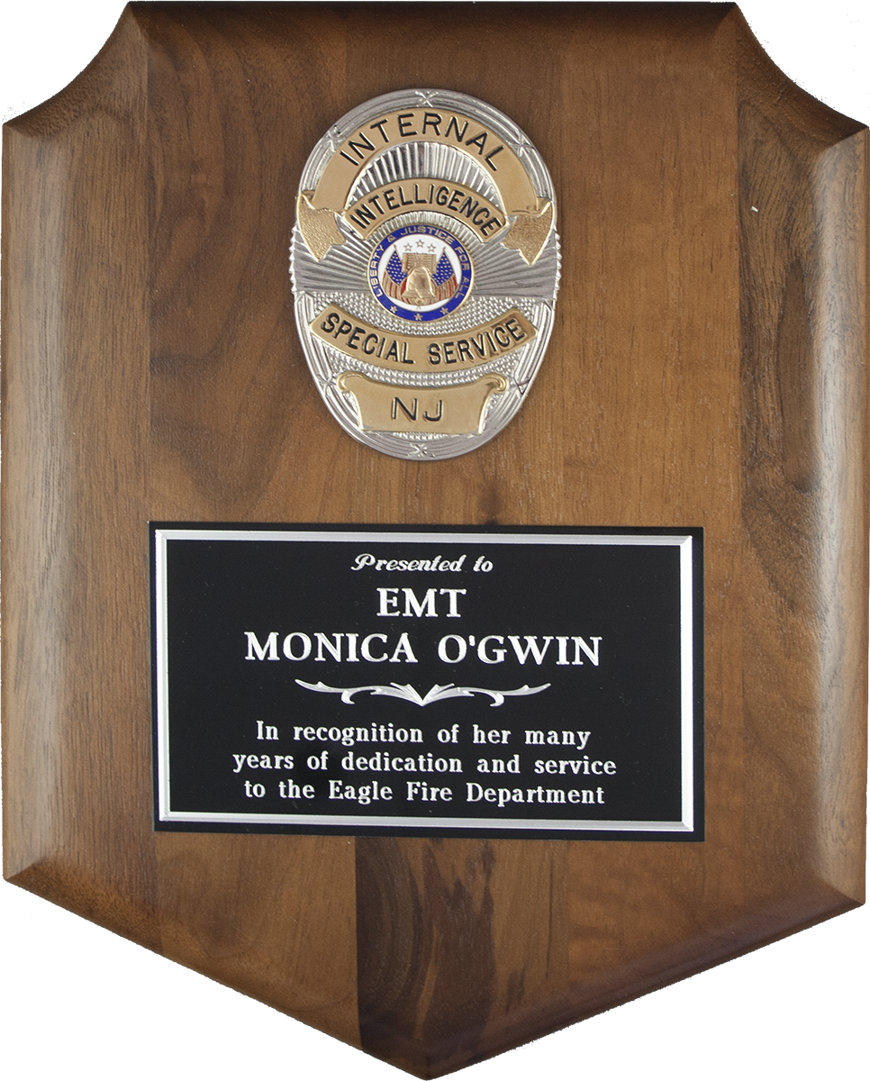 Police Badge Shield Plaque